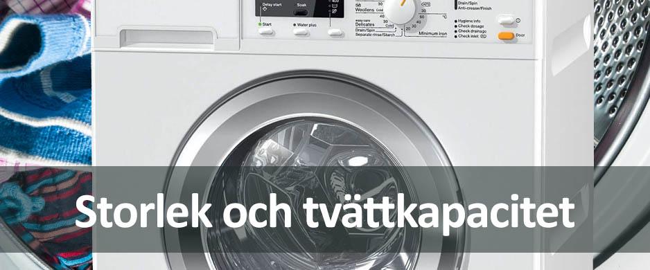 storlek på tvättmaskin