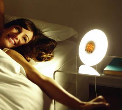 Olika märken och modeller av wake up lights