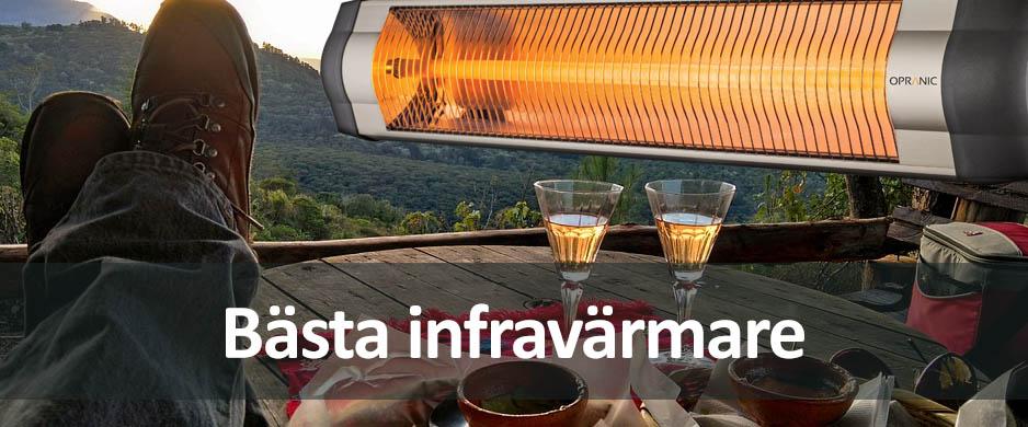 Bästa infravärmare för terrassen