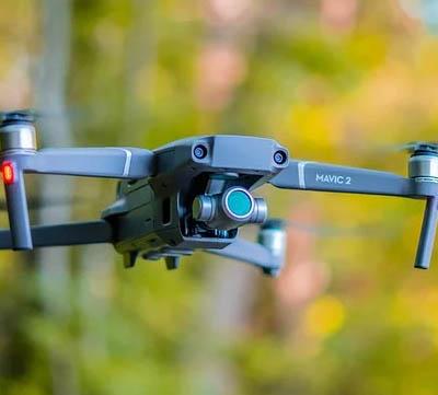 drönare kamera objektiv