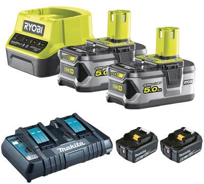 batterier till häcksax och kompatibla system