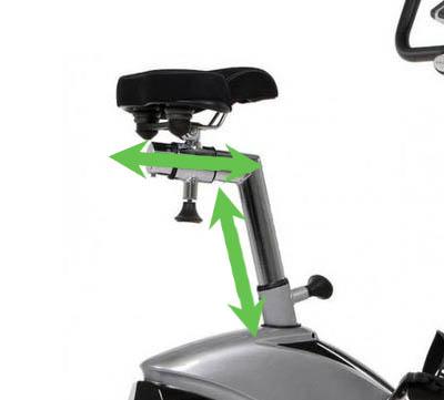 justering av sits på motionscykel
