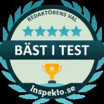 inspekto bäst i test logo
