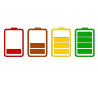 batteritiden på personvågen