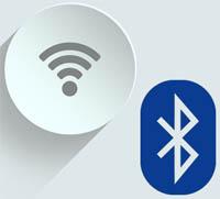 wifi eller bluetooth anslutning