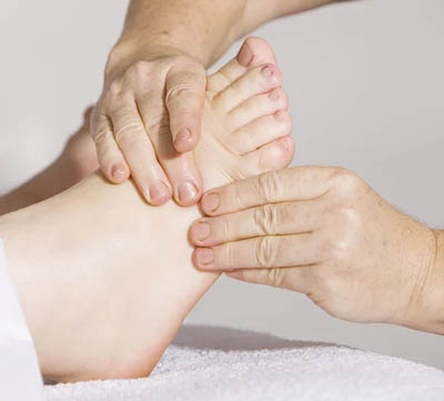 fotmassage och fotproblem