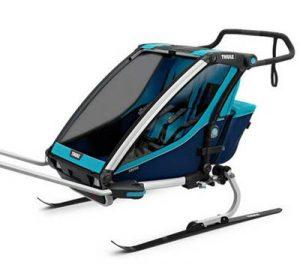 cykelvagn med skidor