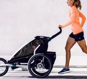 joggingvagn och cykelvagn