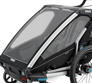 kapell och regnskydd cykelvagn