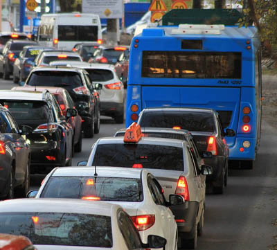 Dåliga partiklar från trafik